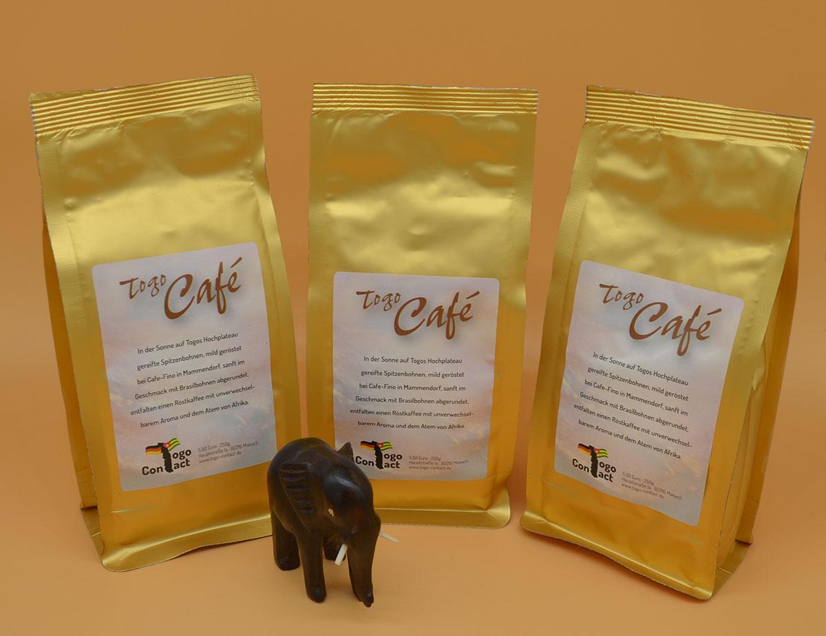 Kaffee aus Togo gemahlen