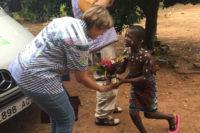 Empfang in einem der Kinderheime der Togohilfe