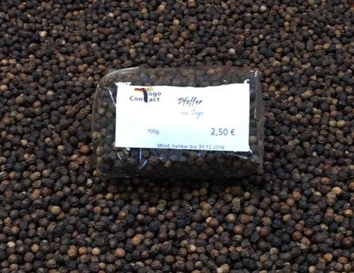 Togo-Pfeffer: 250g-Packung auf Pfefferkörnern