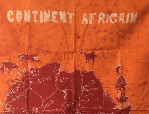 Neue Batiken im Togo-Shop: Wandbehänge mit Kontinent Afrika