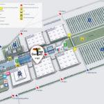 Der Plan der Leipziger Buchmesse mit dem Standort von Togo-Contact