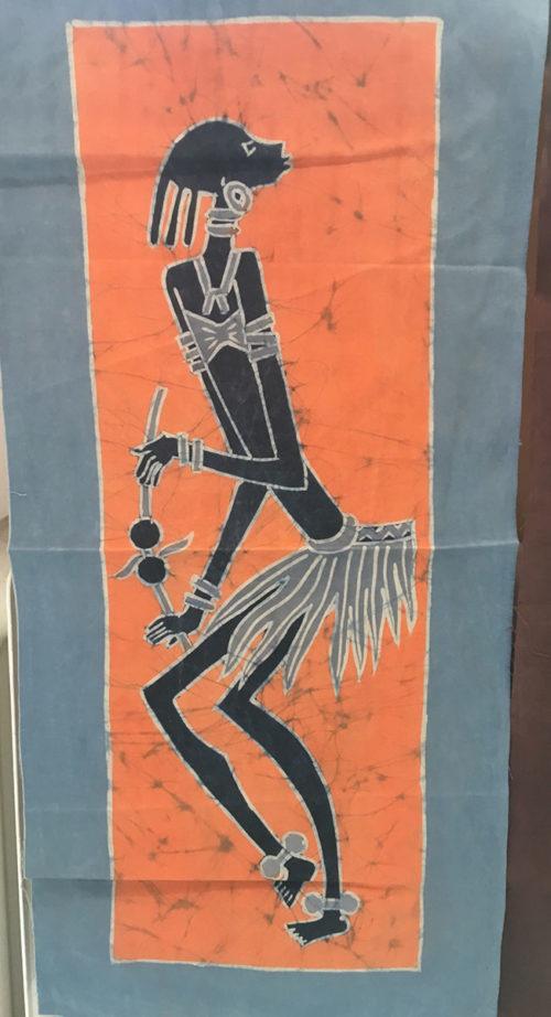 Batik - tanzende Frau