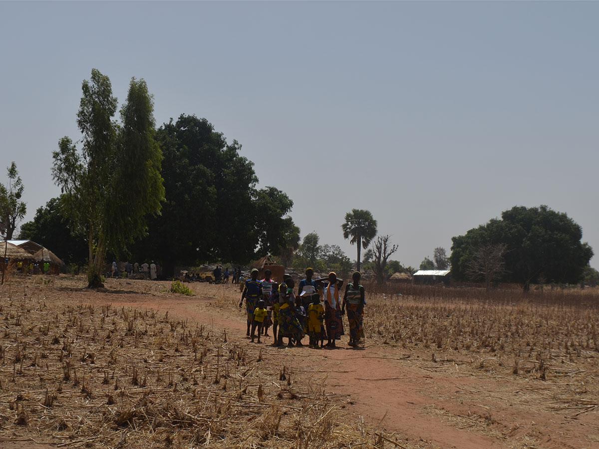 Staubtrocken in der Trockenzeit