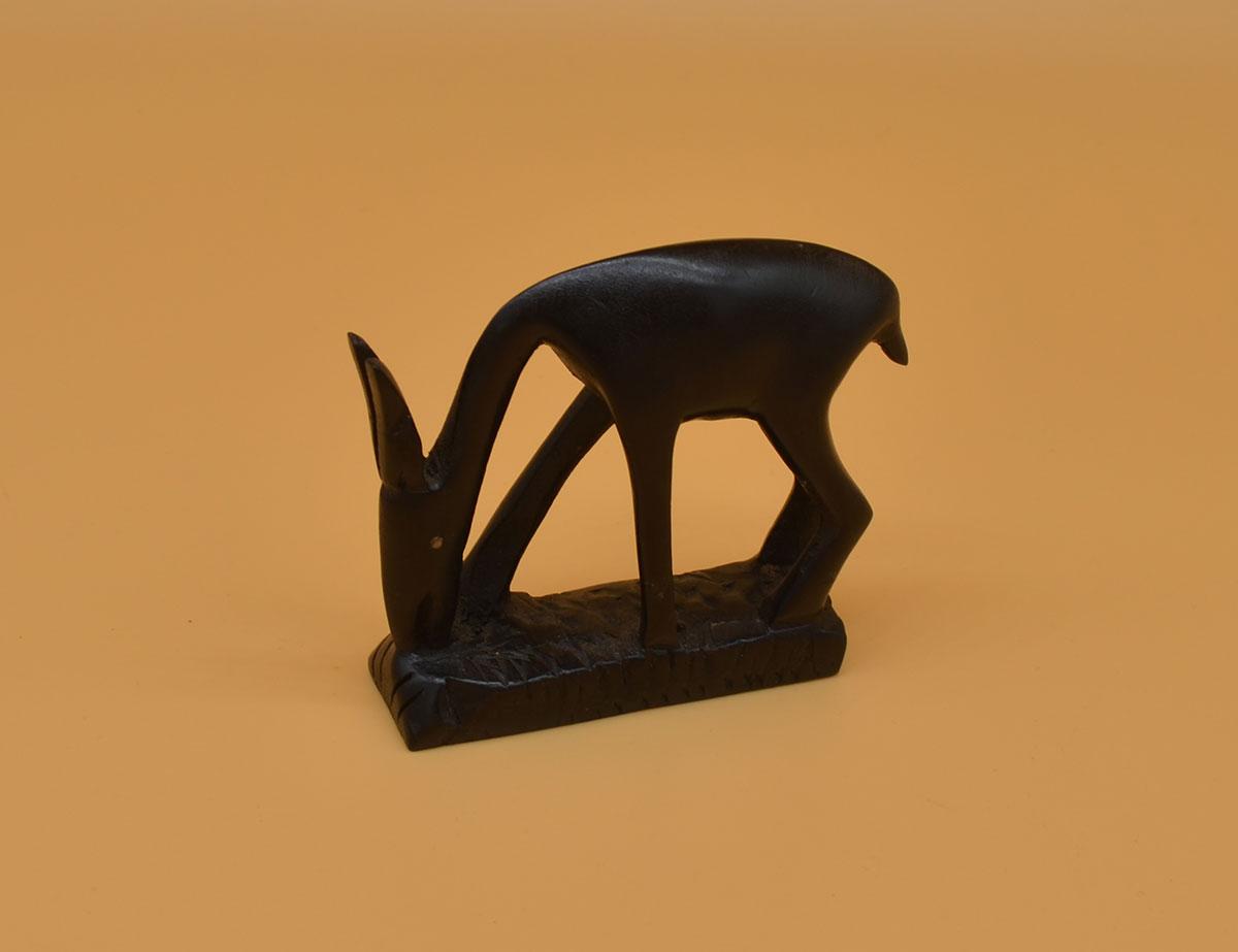 Antilope bzw. Gazelle aus Ebenholz handgeschnitzt