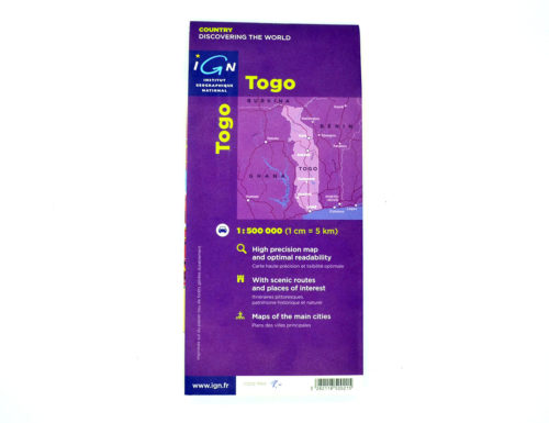 Togo Landkarte / Straßenkarte