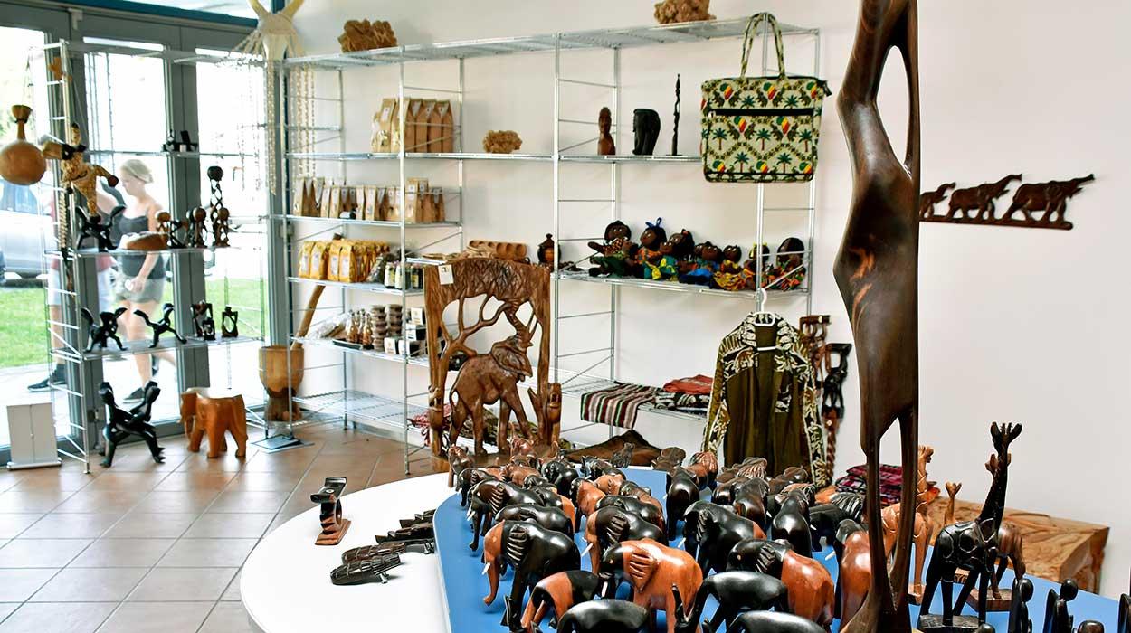 Der Afrika-Laden in Fürstenfeldbruck innen